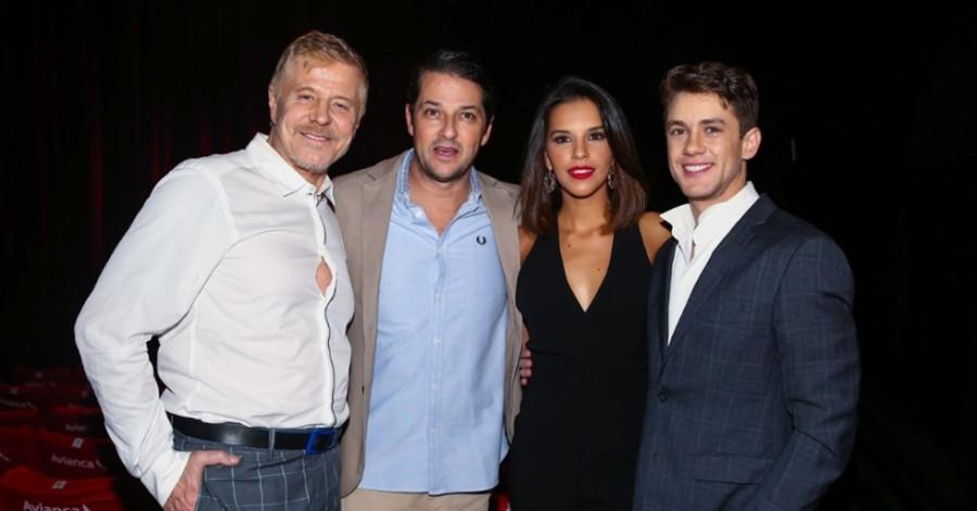 Miguel Falabella, Marcelo Serrado, Mariana Rios e Leonardo Miggiorin (Foto: Nair Barros - ClaCrideias)