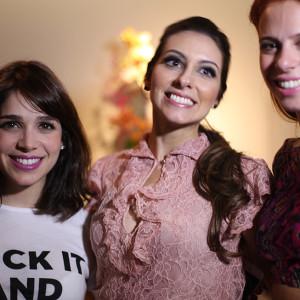Sabrina Petraglia, Laura Viscontti e Maria Fernanda (Foto: Nair Barros - ClaCrideias)