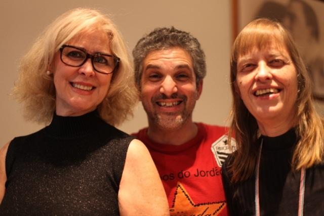 Roberta, Leandro Pirilli e Renata Paccola poetisa (Foto: Nair Barros - ClaCrideias)