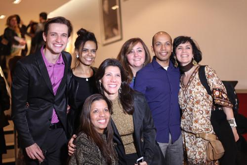 Equipe da Chaim Produções; Leo Delgado à esquerda de camisa rosa (Foto: Nair Barros - ClaCrideias)