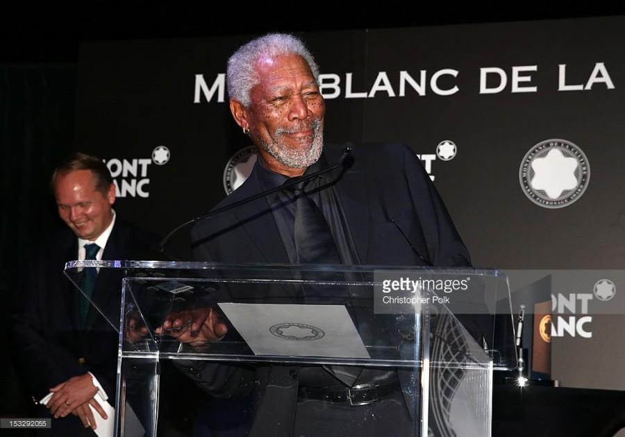 Ator Morgan Freeman em uma das premiações (Foto: Divulgação)